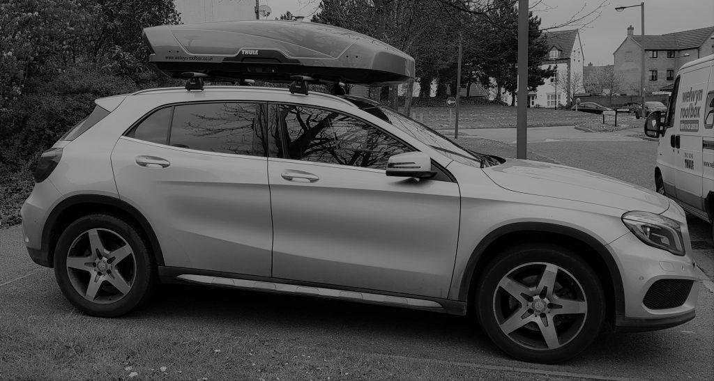 Mercedes GLA Motion XT L Welwyn Roofbox Hire